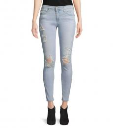 AG Adriano Goldschmied Light Blue Super Skinny Ankle Jeans