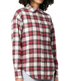 Red Cotton Classic Check Shirt