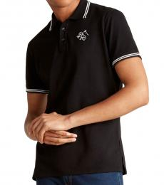 Black Mascot Logo Polo