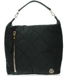 Moncler Black Quilted Large Hobo