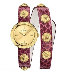 Versace Red Medusa Stud Icon Watch