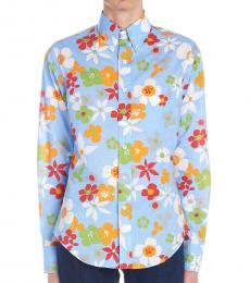 Light Blue Bloom Shirt