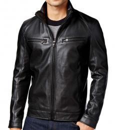 Michael Kors Black Perforated Moto Jacket