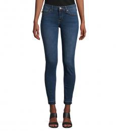 Karl Lagerfeld Medium Denim Released-Hem Skinny Jeans