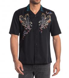 Diesel Black Kenta Slim Fit Embroidered Shirt