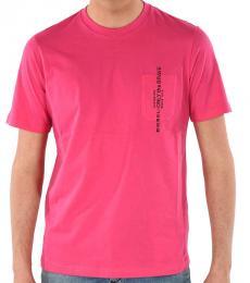 Pink Pocket Printed T-Shirt