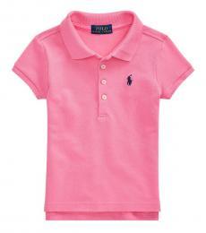 Little Girls Bristol Pink Polo