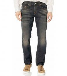 True Religion Dark Dirty Barn Wash Geno Relaxed Slim Jeans