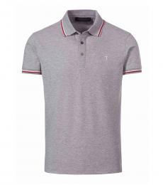 Trussardi Grey Logo Classic Polo