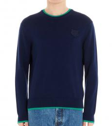 Royal Blue Tiger Crest Sweater