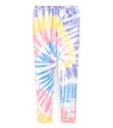 Ralph Lauren Girls Tie Dye Stretch Jersey Leggings