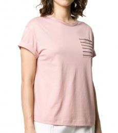 Light Pink Cotton T-Shirt