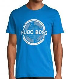 Hugo Boss Turquoise Graphic Logo T-Shirt