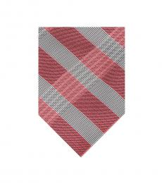 Pink Thick Plaid Tie