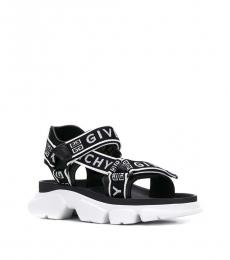 Givenchy Black White Jaw Sandals