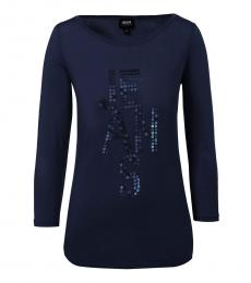 Armani Jeans Dark Blue Classic Logo T-Shirt