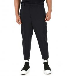 Navy Blue Pinces Cargo Pants