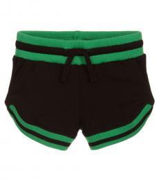 Stella McCartney Girls Black Drawstring Shorts