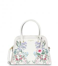 Karl Lagerfeld White Floral Dome Small Satchel