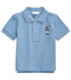 Ralph Lauren Baby Boys Fall Blue Beach Bear Polo