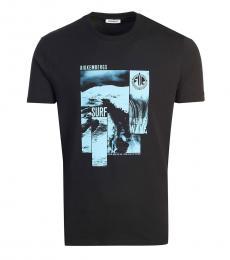 Bikkembergs Black Graphic Logo T-Shirt
