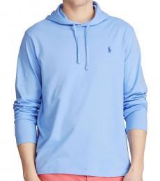 Ralph Lauren Cabana Blue Jersey Hooded T-Shirt