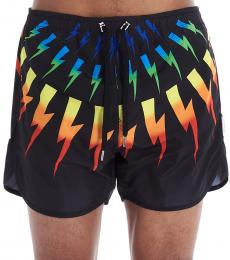 Neil Barrett Black Thunder Swim Shorts