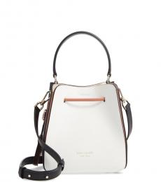 Kate Spade White Busy Small Bucket Bag