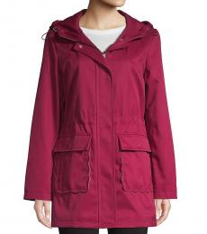 Kate Spade Cherry Hooded Trench Coat