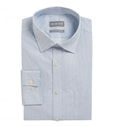 Blue Regular Fit Stretch Dress Shirt