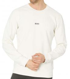 Hugo Boss White Weevo Logo Sweatshirt