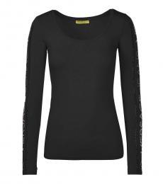 Versace Jeans Black Side Logo Top