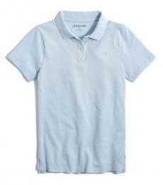 J.Crew Little Girls Faded Chambray Uniform Polo
