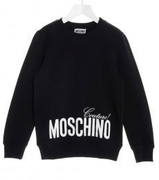 Moschino Little Girls Black Logo Sweatshirt
