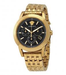 Versace Yellow Gold Sport Tech Chronograph Watch
