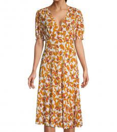 Diane Von Furstenberg Eden Idris Floral Puff-Sleeve Dress