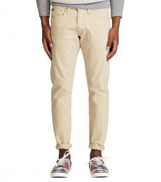 Ralph Lauren Light Khaki Slim Straight Varick Jeans