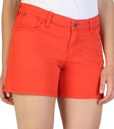 Armani Jeans Red Logo Shorts