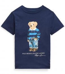 Ralph Lauren Boys Cruise Navy Rugby Bear Jersey T-shirt