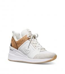 Michael Kors White Georgie Logo Sneakers