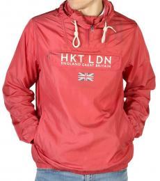 Hackett Red Logo Bomber Hoodie