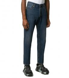Emporio Armani Blue Faded Straight Leg Jeans