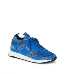 Hugo Boss Blue Titanium Textured Sneakers
