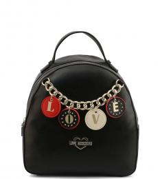 Love Moschino Black Love Charm Small Backpack
