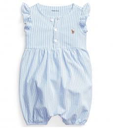 Ralph Lauren Baby Girls Island Oxford Bubble Shortall