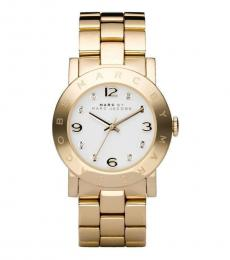 Marc Jacobs Golden Amy White Dial Watch