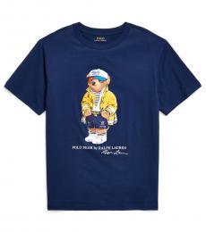 Ralph Lauren Boys Newport Navy CP-93 Bear T-Shirt