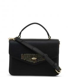 Love Moschino Black Turnlock Small Satchel
