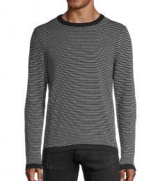 Michael Kors Navy Blue Striped Cotton Sweater