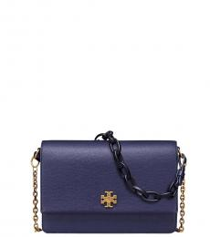 Tory Burch Navy Kira Mini Shoulder Bag
